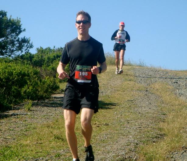 Mike Sohaskey running Wildcat Half Marathon