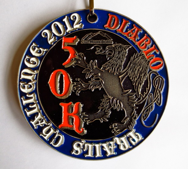 Brazen Racing Mt Diablo Trails Challenge 50k medal