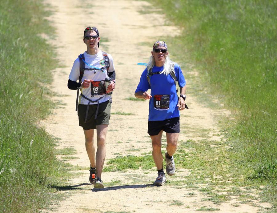 Mike and Chuck Sohaskey running Mt Diablo Trails Challenge 50k
