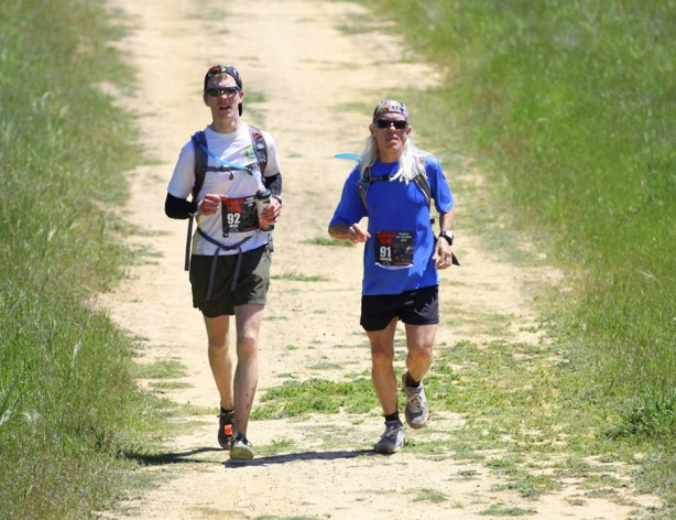 Mike and Chuck Sohaskey running Mt Diablo Trails Challenge 50k