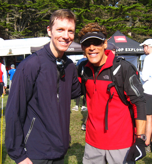 Mike Sohaskey and Dean Karnazes at 2009 North Face Endurance Challenge