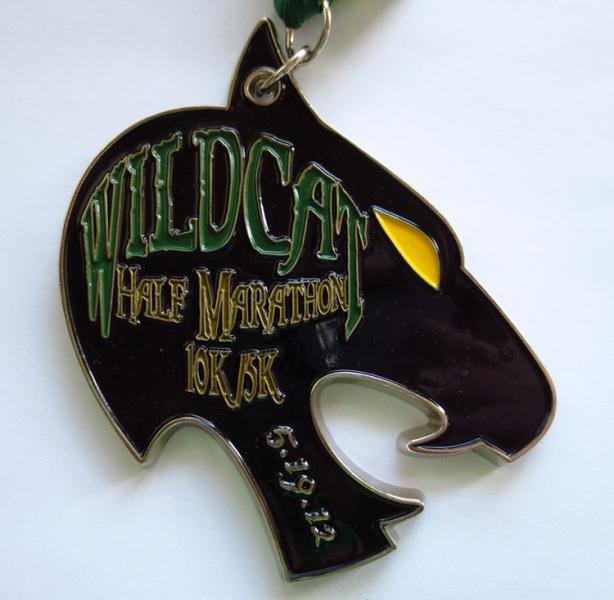 Brazen Racing Wildcat Half Marathon medal