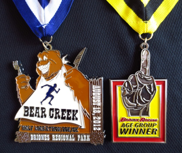 Brazen Racing Bear Creek medals