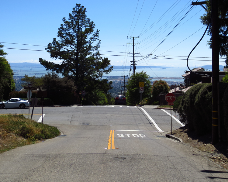 View of SF Bay from Creston and Marin Ave in Berkeley