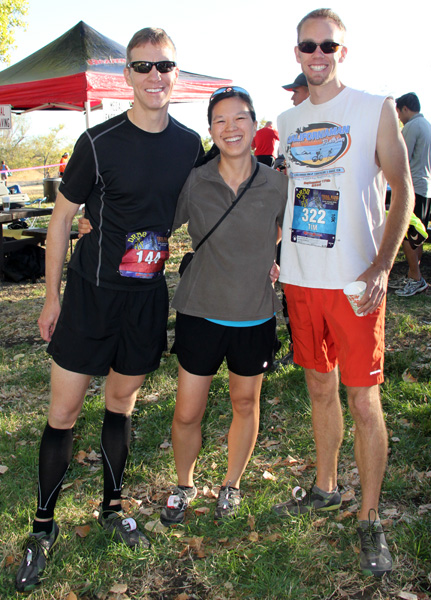 Mike Sohaskey, Katie Ho and Tim Crooks before Brazen Drag-N-Fly race