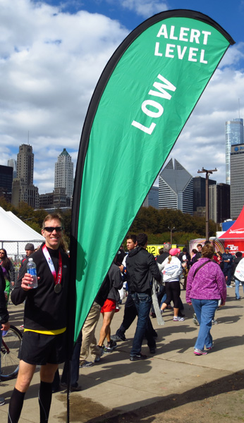 Mike Sohaskey after running 2012 Chicago Marathon