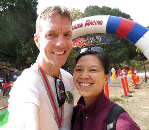 Mike Sohaskey and Katie Ho at Rocky Ridge Half Marathon