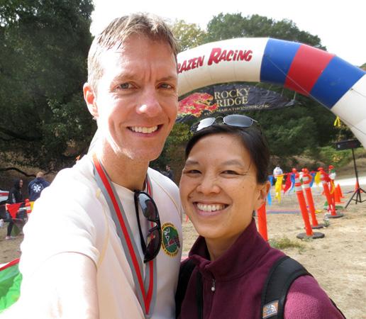 Mike Sohaskey and Katie Ho at Rocky Ridge Half Marathon