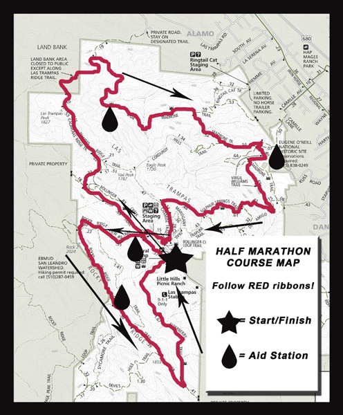 Rocky Ridge Half Marathon Course Map
