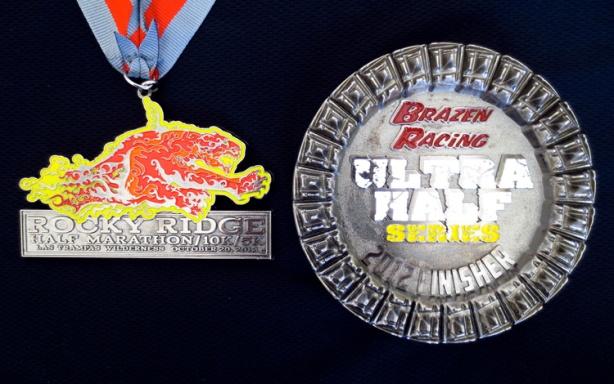 Rocky Ridge Half Marathon medals