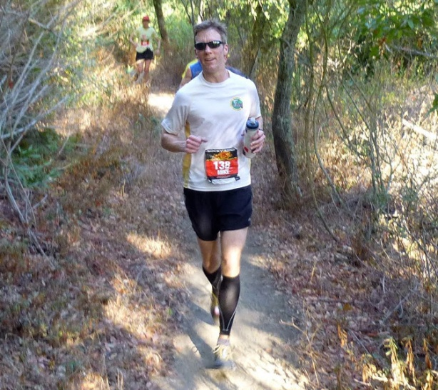 Mike Sohaskey on Rocky Ridge Half Marathon singletrack