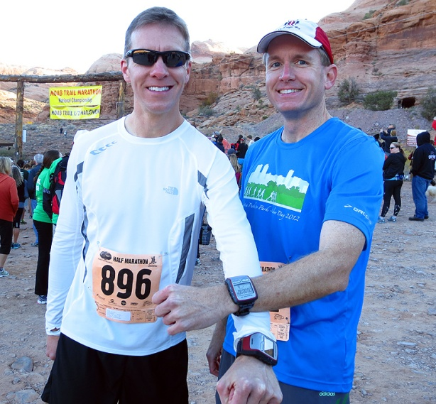 Mike Sohaskey and Ken pre-Moab Trail Half Marathon