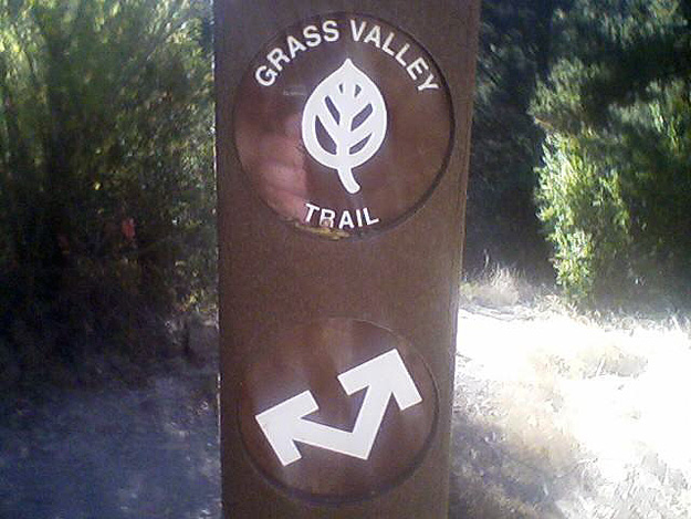 Grass Valley Trail sign