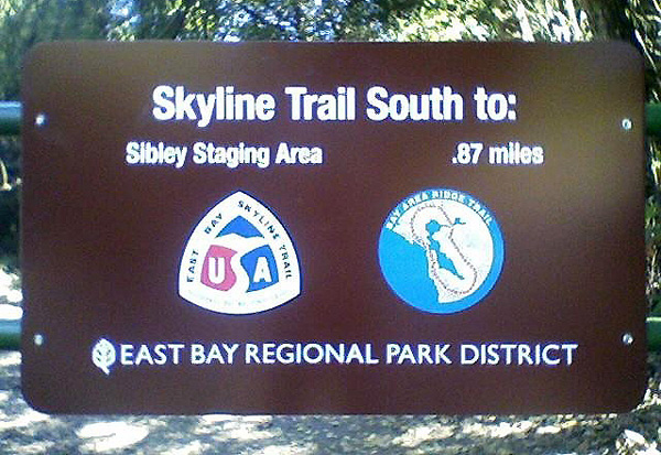 Skyline Trail to Sibley Staging Area sign