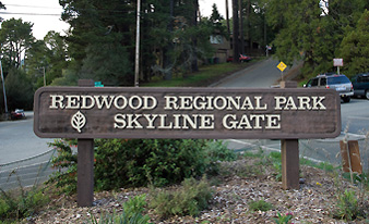 Redwood Regional Park Skyline Gate sign