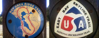 Bay Area Ridge Trail and East Bay Skyline Trail badges