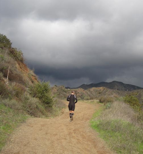 Mike Sohaskey running Harding Truck Trail