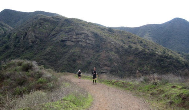 Mike Sohaskey and Laura running in Modjeska Canyon