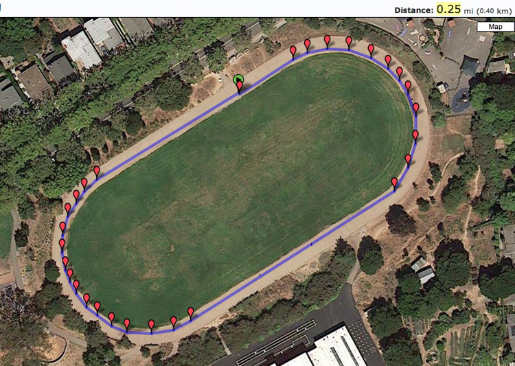 Just to confirm that MLK Jr. is a regulation track, I mapped it on favoriterun.com
