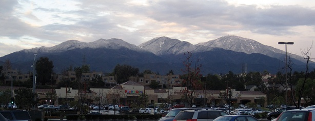 Snow on the peaks