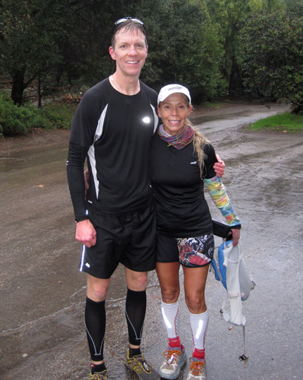 Mike Sohaskey and Laura post-run