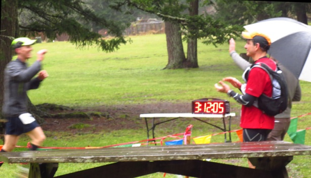 Mike Sohaskey finishing 2013 Orcas Island 25K