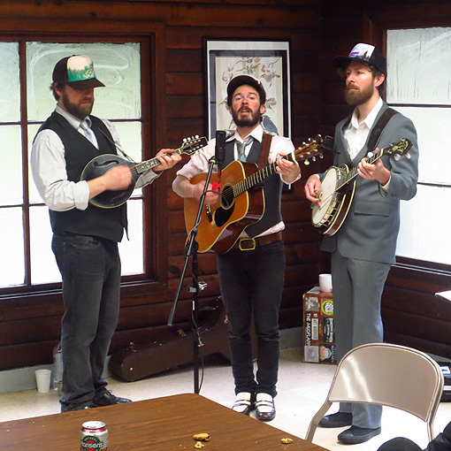The Pine Hearts provide post-race entertainment after 2013 Orcas Island 25K