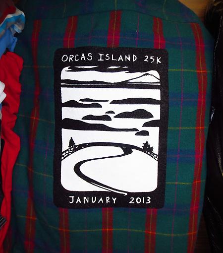 2013 Orcas Island 25K race shirt