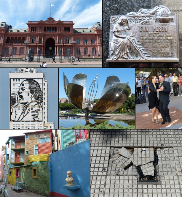 Photo collage of Buenos Aires highlights (photo credit: Mike Sohaskey)