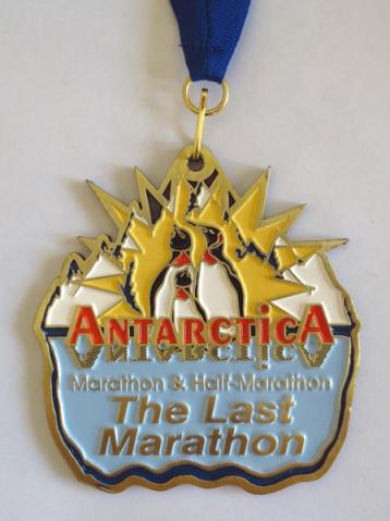 Antarctica Marathon medal (2013)