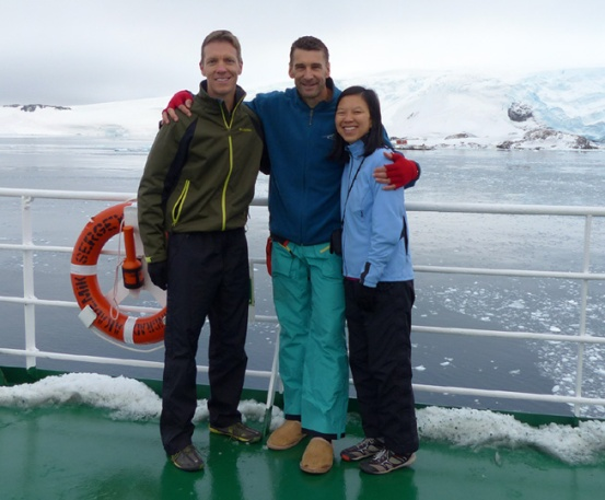 Mike Sohaskey, Rory Steyn & Katie Ho on Vavilov in Antarctica