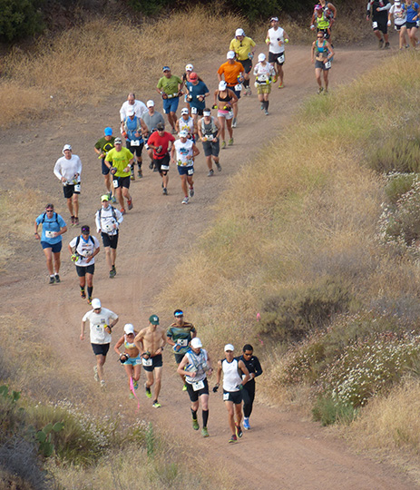 Harding Hustle 50k 2013 - first hill