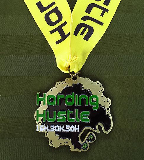 Harding Hustle 50k (2013) race medal
