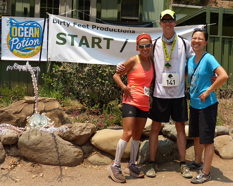 Laura, Mike Sohaskey and Katie after Harding Hustle 50k