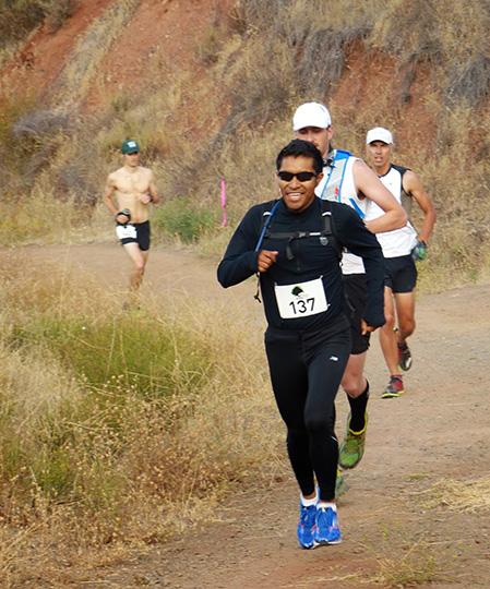 Ramiro Santos leading Harding Hustle 50k (2013)