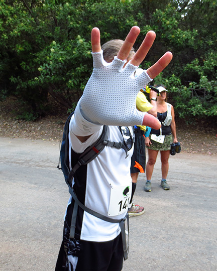 Mike Sohaskey - no paparazzi before Harding Hustle 50k start