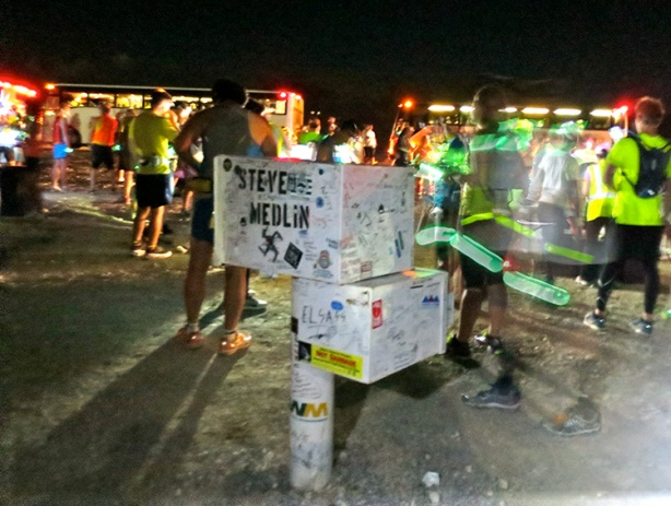 Black Mailbox at start of E.T. Full Moon Midnight Marathon 2013