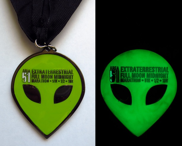 E.T. Full Moon Midnight Marathon medal (glow-in-the-dark)