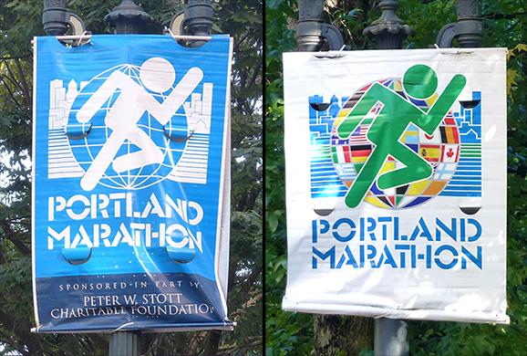 Portland Marathon 2013 street banners