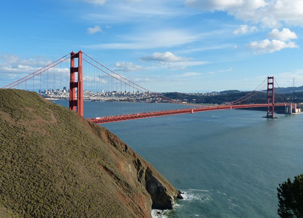 View of Golden Gate Bridge from Marin Headlands