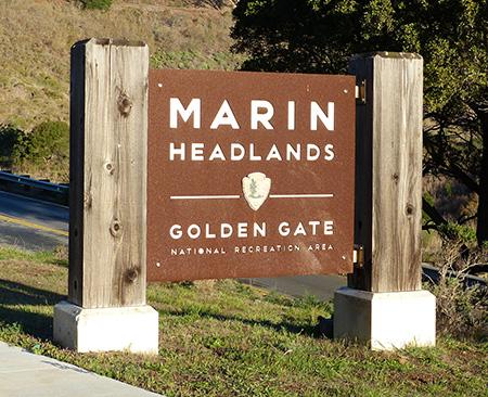 Marin Headlands - Golden Gate National Recreation Area sign