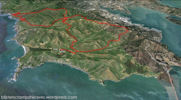 The North Face Endurance Challenge Championship Marathon course (San Francisco)