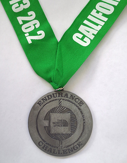 The North Face Endurance Challenge Championship marathon medal (2013)