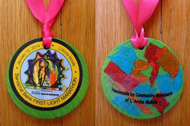 2014 First Light Marathon medallion