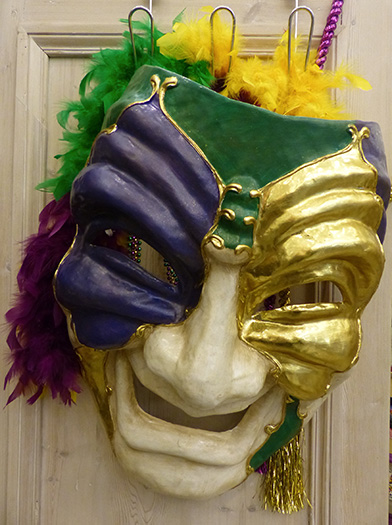 Mardi Gras mask at Mobile Carnival Museum