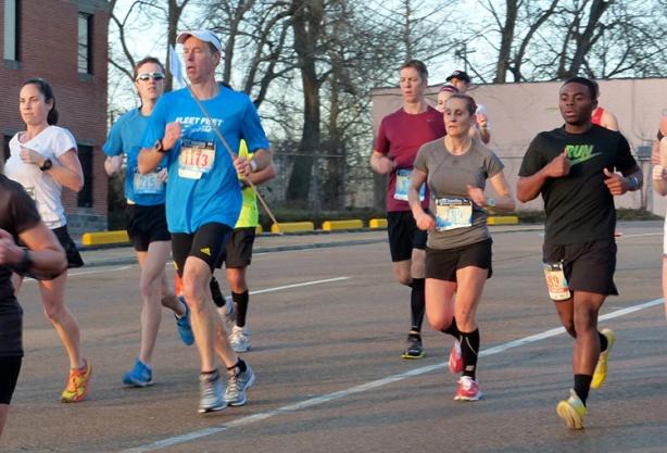 Mike Sohaskey past mile 3 of Mississippi Blues Marathon 2013