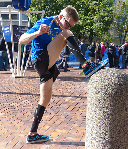 "Mike Sohaskey ""Sohaskey-nicking"" after 2013 Portland Marathon"