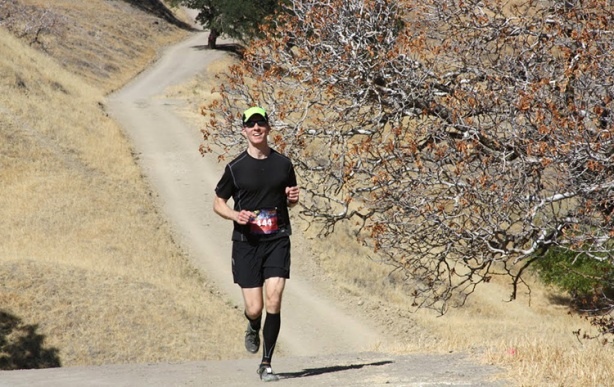 Mike Sohaskey running 2012 Brazen Racing's Drag 'n Fly half marathon