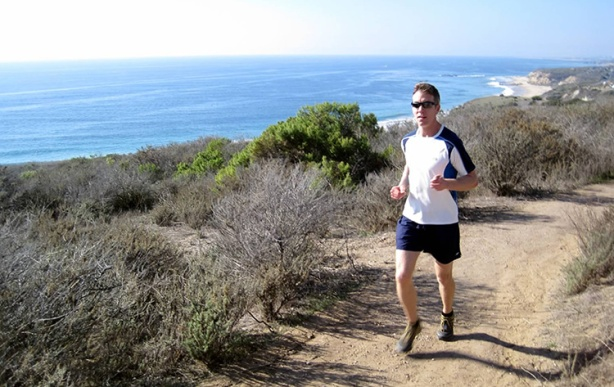 Mike Sohaskey running in El Moro Canyon in Crystal Cove State Park