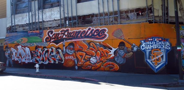 SF Giants World Series 2012 mural
